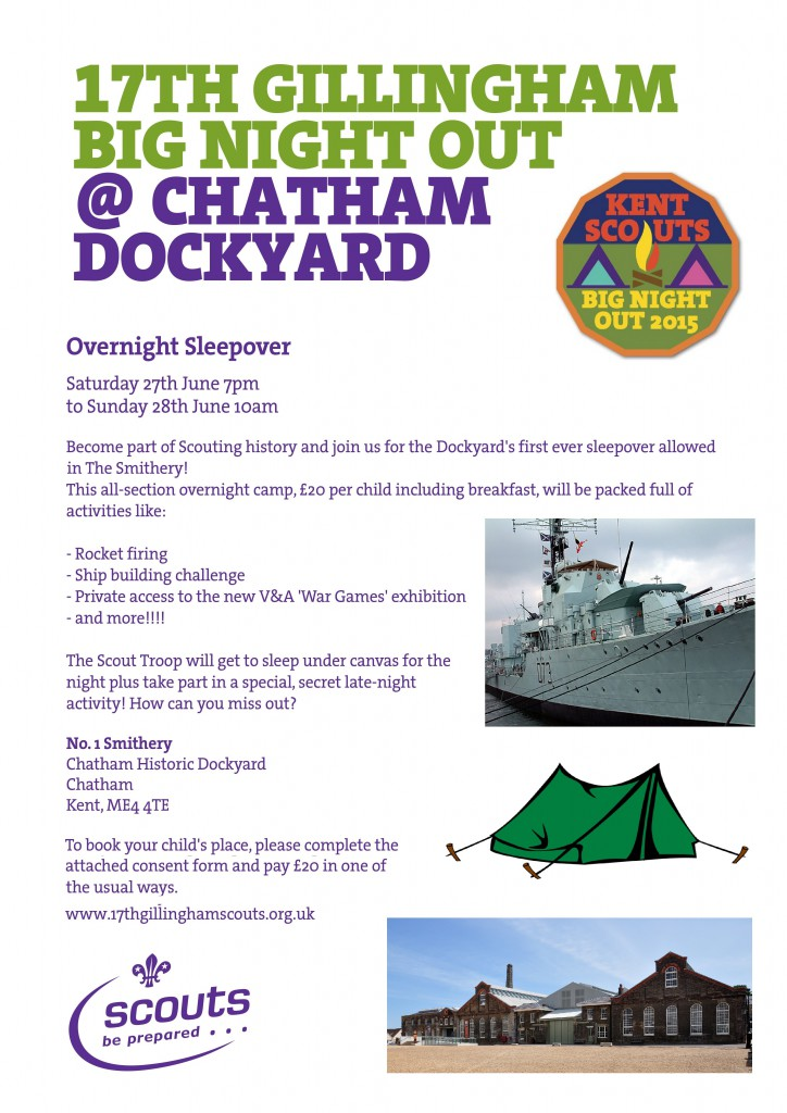Big Night Out Sleepover Flyer
